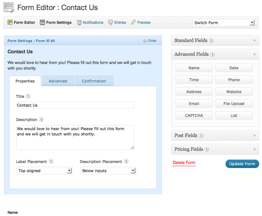 Advanced Forms for WordPress Websites Just Don't Get Any Easier than ...